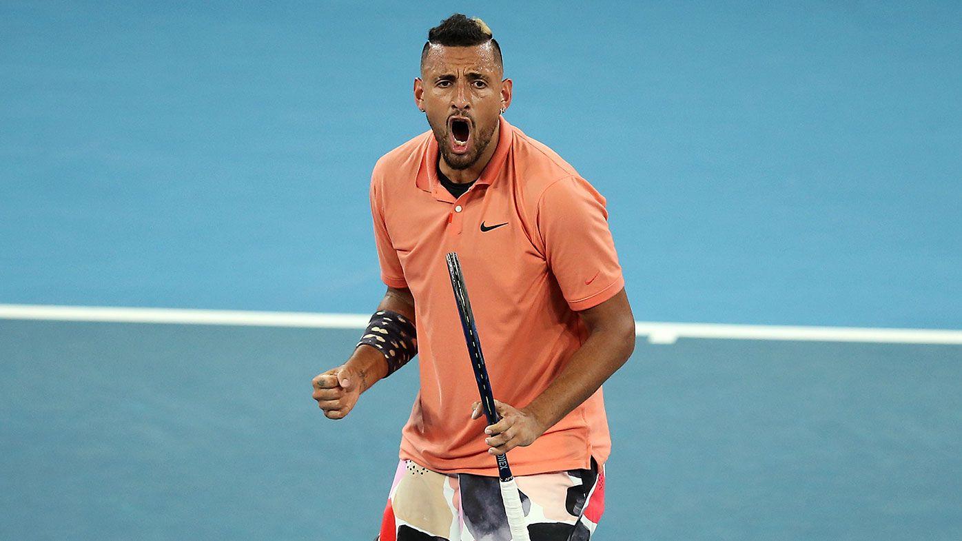 Nick Kyrgios defeats Karen Khachanov and sets up match with Rafael Nadal at Australian Open