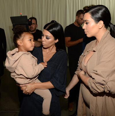 Kourtney Kardashian, North West and Kim Kardashian West.