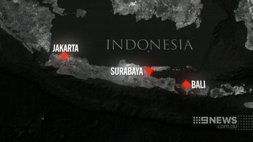 The US government on Sunday warned of a potential threat against US-associated hotels and banks in Surabaya. (9NEWS)