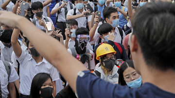 Thousands of Hong Kong university and school students have swapped classes for democracy protests, the latest act of defiance in an anti-government movement that has plunged the Chinese-ruled city into its biggest political crisis in decades.
