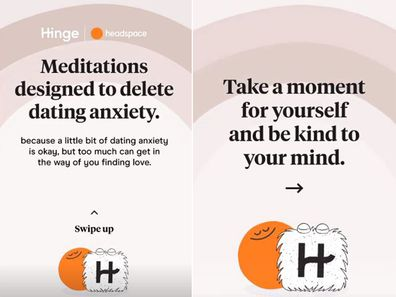 Hinge teams up with headspace