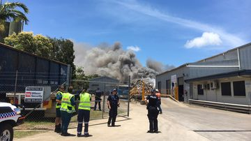 The fire broke out at a premises in Portsmith. (9NEWS)
