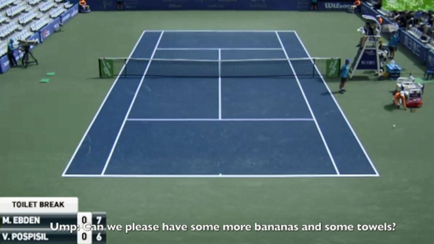 Bananas tennis tantrum
