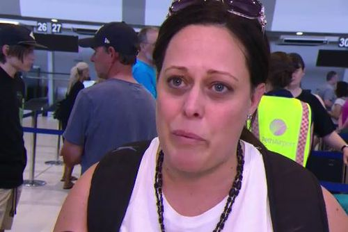 Perth woman Leah spoke to 9NEWS after the plane returned to the ground.