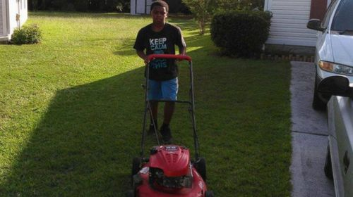 US boy receives donations as he mows lawns to help pay for his school supplies