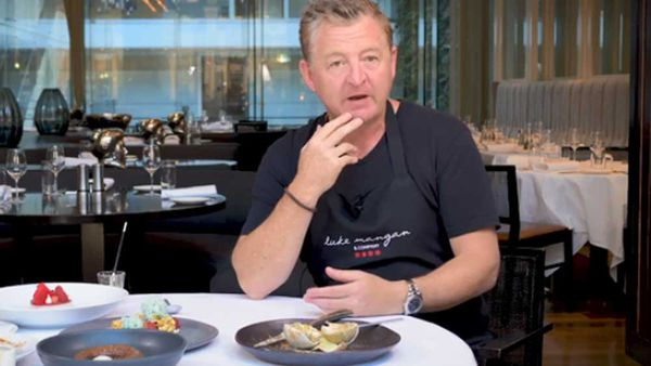 Chef Luke Mangan talks about his Liquorice lime dessert