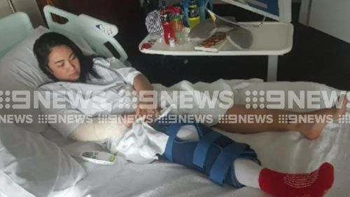 Ms Doctor remains bedridden following the incident on January 8. (9NEWS)