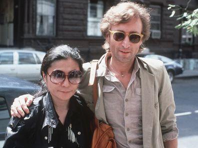 John Lennon and Yoko Ono in New York, 1980