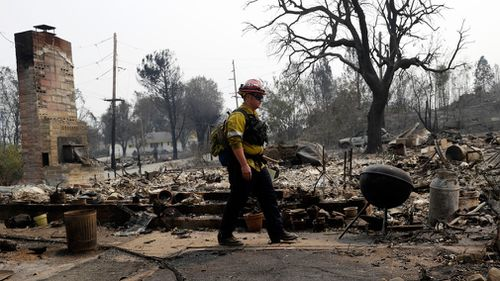 At least 300 homes have been lost to the so-called Carr Fire. Picture: AP