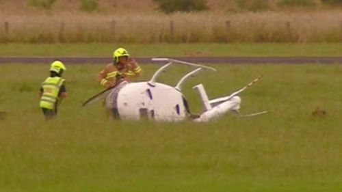 Pilot, 82, suffers minor injuries in helicopter crash at Lismore