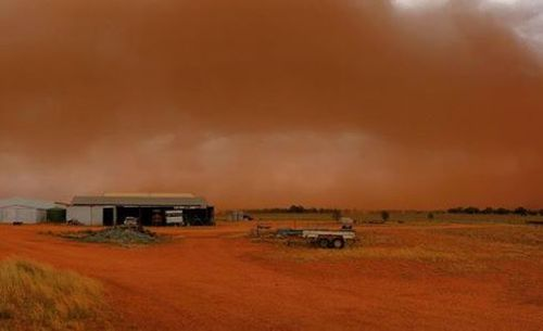 A severe dust storm has swept through New South Wales.