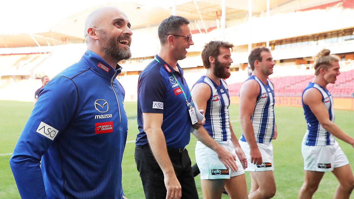 'In our minds it wasn't an upset': Roos coach Rhyce Shaw bullish after stunning win over GWS Giants