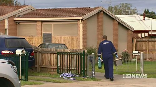 A 37-year-old St Alban's man and the delivery driver escaped unscathed as the gunmen fled. Picture: 9NEWS.
