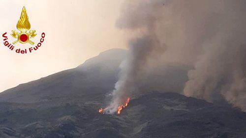 Fires broke out after the eruption.