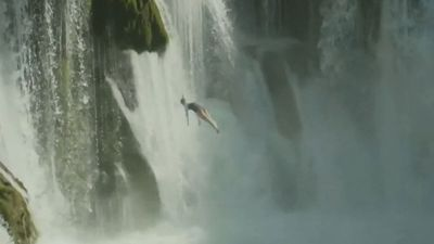 Sky's the limit for champion cliff diver