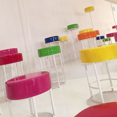 <p>The candy-coloured set.</p>