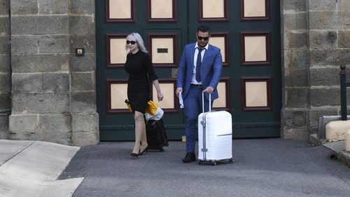 Mehajer was met by his lawyer Zali Burrows.