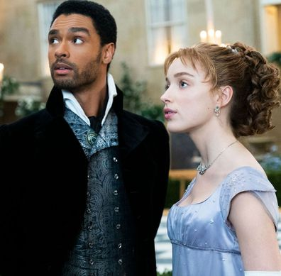 Regé-Jean Page and Phoebe Dynevor as the Duke of Hastings and Daphne Bridgerton in Bridgerton