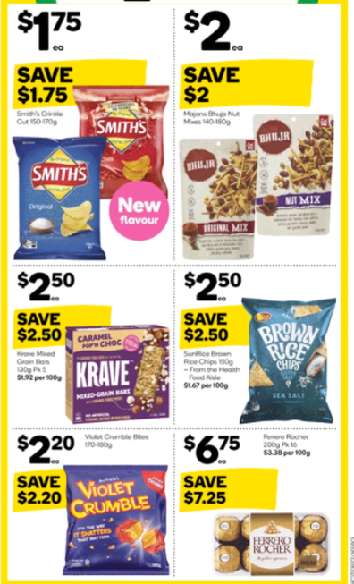 You'll also find some delicious sweet and savoury treats at Woolworths this week.