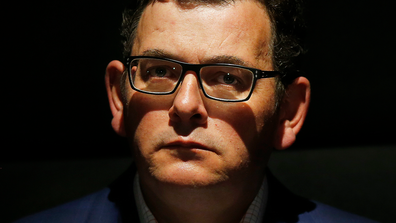 Victorian Premier Daniel Andrews looks on during a press conference on September 06, 2020 in Melbourne, Australia