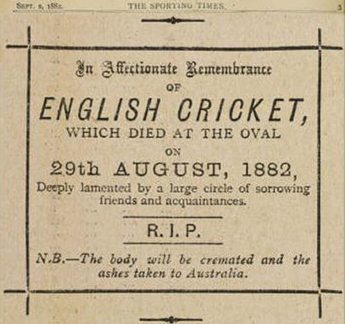 The death notice for 'English cricket'. (Supplied)