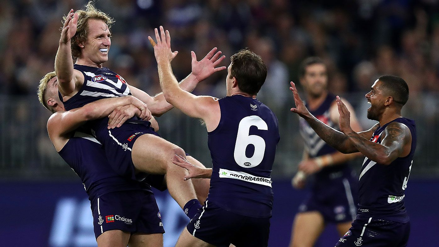 Fremantle veteran David Mundy turns in vintage performance in 300th career match