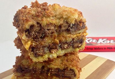 Deep-fried Kit Kats