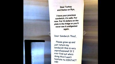 """The irate owner tells the thief to """"grow up"""" and issues their own threat: HR intervention"""