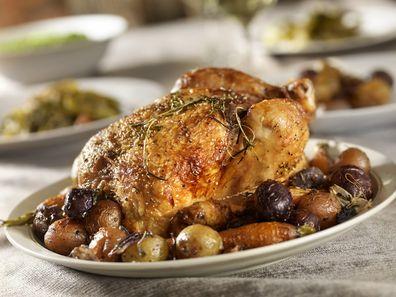 At Aldi you can purchase roast chicken for just $2.99 per kilo.