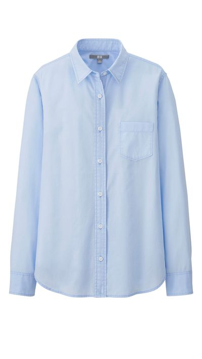 """<a href=""""http://www.uniqlo.com/au/store/women-oxford-long-sleeve-shirt-1276610023.html#colorSelect"""" target=""""_blank"""">Shirt, $29.90, Uniqlo</a>"""