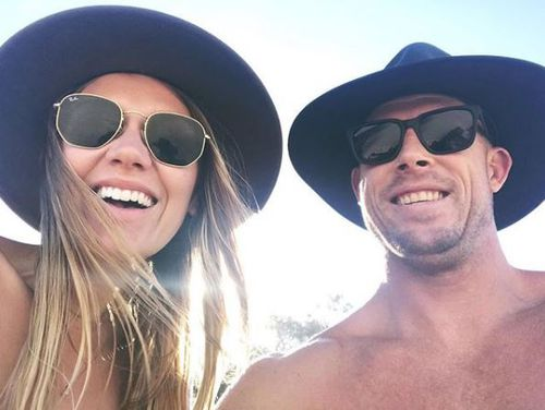Girlfriend Breeana Randall praised the three-time world surfing great today in one of the first photos posted online of the pair. (Instagram)