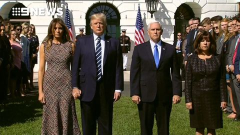 9RAW: White House holds moment of silence for Las Vegas victims