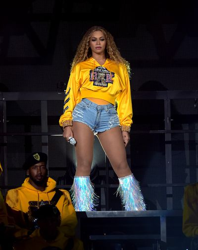 Beyoncé changing into a more casual look in more Balmain