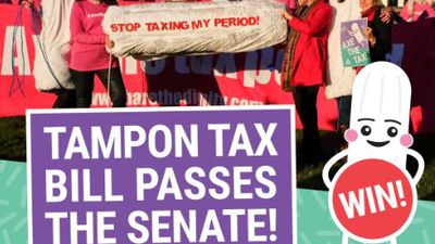 Tampon tax to be axed