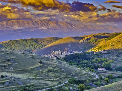 Town of Santo Stefano di Sessanio in Abruzzo, Italy