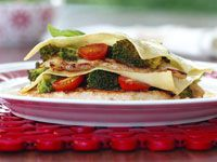 Broccoli and chicken lasagne