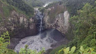 The San Rafael Waterfall taken on February 2, 2020