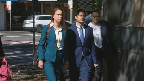 Hannah Quinn, 26, and Blake Davis, 31, are on trial in the NSW Supreme Court charged with murdering Jett McKee.