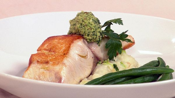 Kingfish with fennel pesto