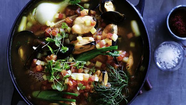 French-inspired fish soup