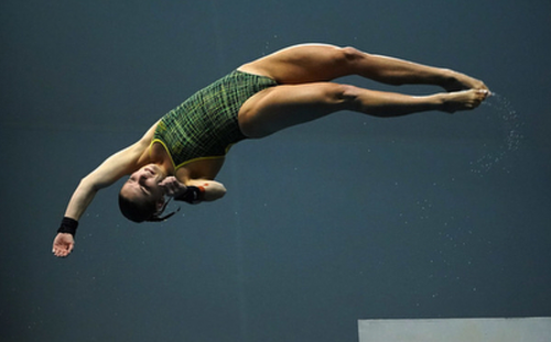 """No longer able to dive, the young athlete has vowed she won't be a """"stranger"""" to the sport. (Instagram/ tkovchenko)"""