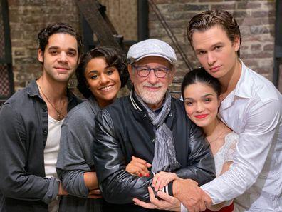 Steven Spielberg, Ansel Elgort, Rachel Zegler, Ariana DeBose, David Alvarez, West Side Story
