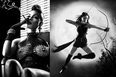 """A new Rosario Dawson poster has just raised the bar (erm, so to speak) on the raunch-meter of the <i>Sin City: A Dame to Kill For</i> publicity pics.<br/><br/>Flick through to see them all, including Eva Green's too-rude for the US ratings sheer nip-revealing gown...<br/><br/><i>Sin City: A Dame to Kill For</i> hits Aussie cinemas on August 21, 2014. <b><a target=""""_blank"""" href=""""http://yourmovies.com.au/movie/45077/sin-city-a-dame-to-kill-for"""">Vote 'want to see' or 'not interested' on MovieBuzz now.</a></b><br/><br/>Left: Rosario Dawson as Gail. Right: Jamie Chung as Miho.<br/><br/>(<i>Author: Yasmin Vought</i>)"""