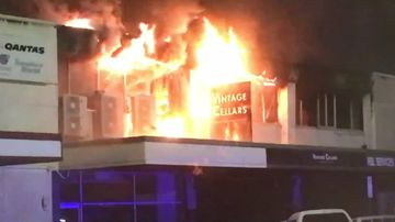 US Marines brave flames to check for trapped people in RSL blaze
