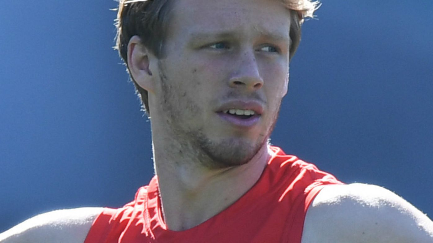 Callum Mills in Sydney Swans training