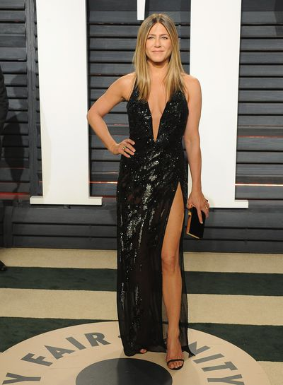 <p><strong>Jennifer Aniston 2</strong></p> <p>Tried and true in Versace at the 2017 Vanity Fair Oscars Party.</p>