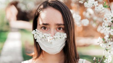 The bridal party asked the bride if they could wear face masks but were told 'no'.