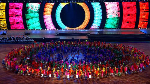 Dancers perform during the Opening Ceremony for the Glasgow 2014 Commonwealth Games. (Getty)