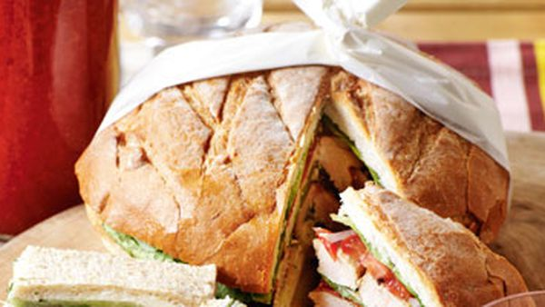 Mediterranean chicken sandwich