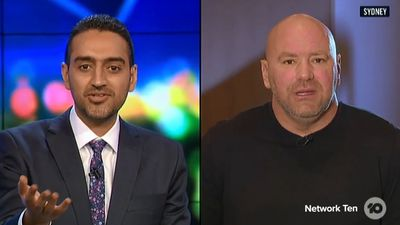 Waleed Aly grills UFC boss Dana White in tense exchange on The Project